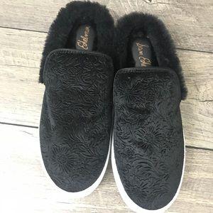 San Edelman Velvet Fur Sneakers/ Slides / loafers
